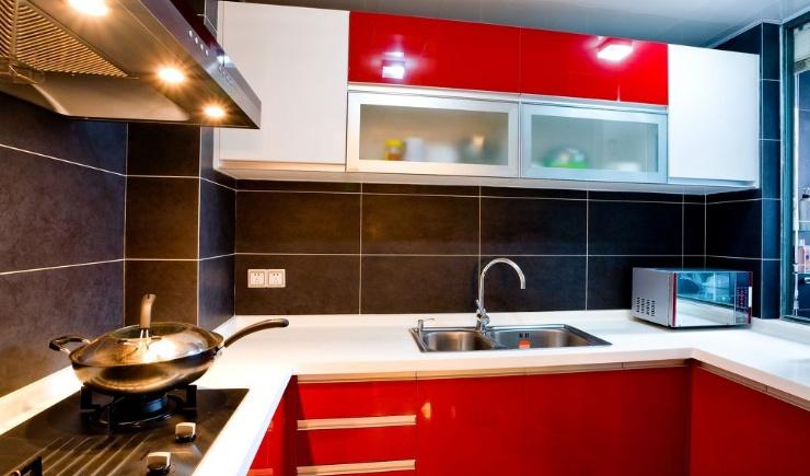 现代u型小厨房装修效果图装修效果图