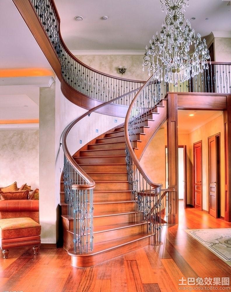 美式别墅铁艺楼梯图片装修效果图 第5张