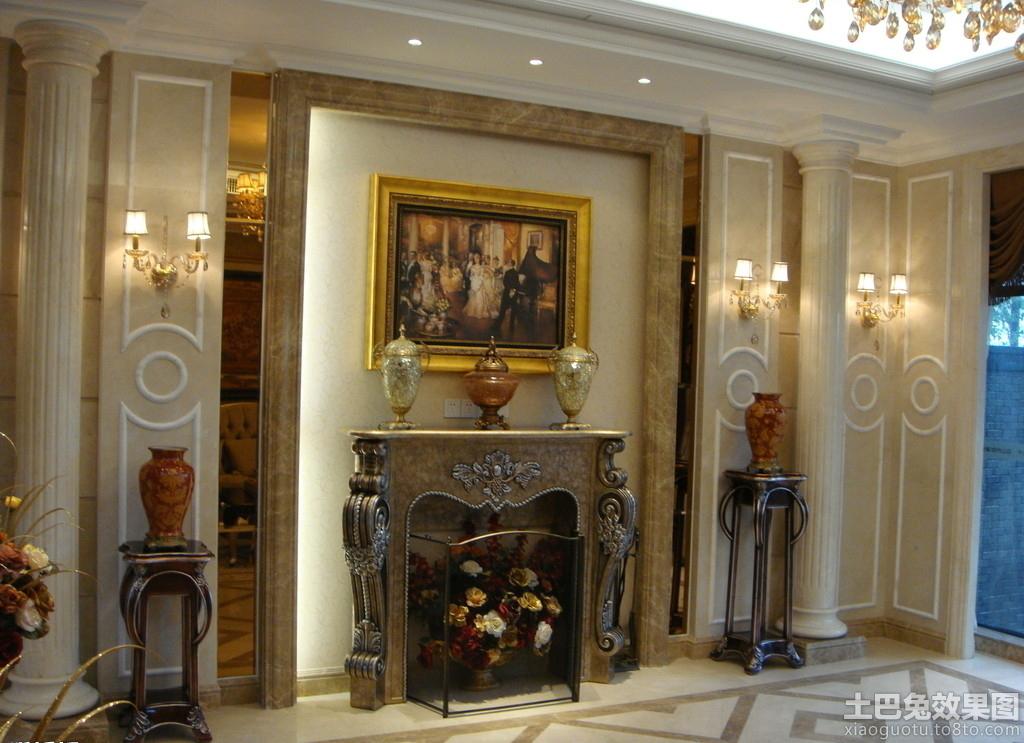 家庭欧式装修图片罗马柱效果图装修效果图 第1张 家居图库 九正家居网高清图片