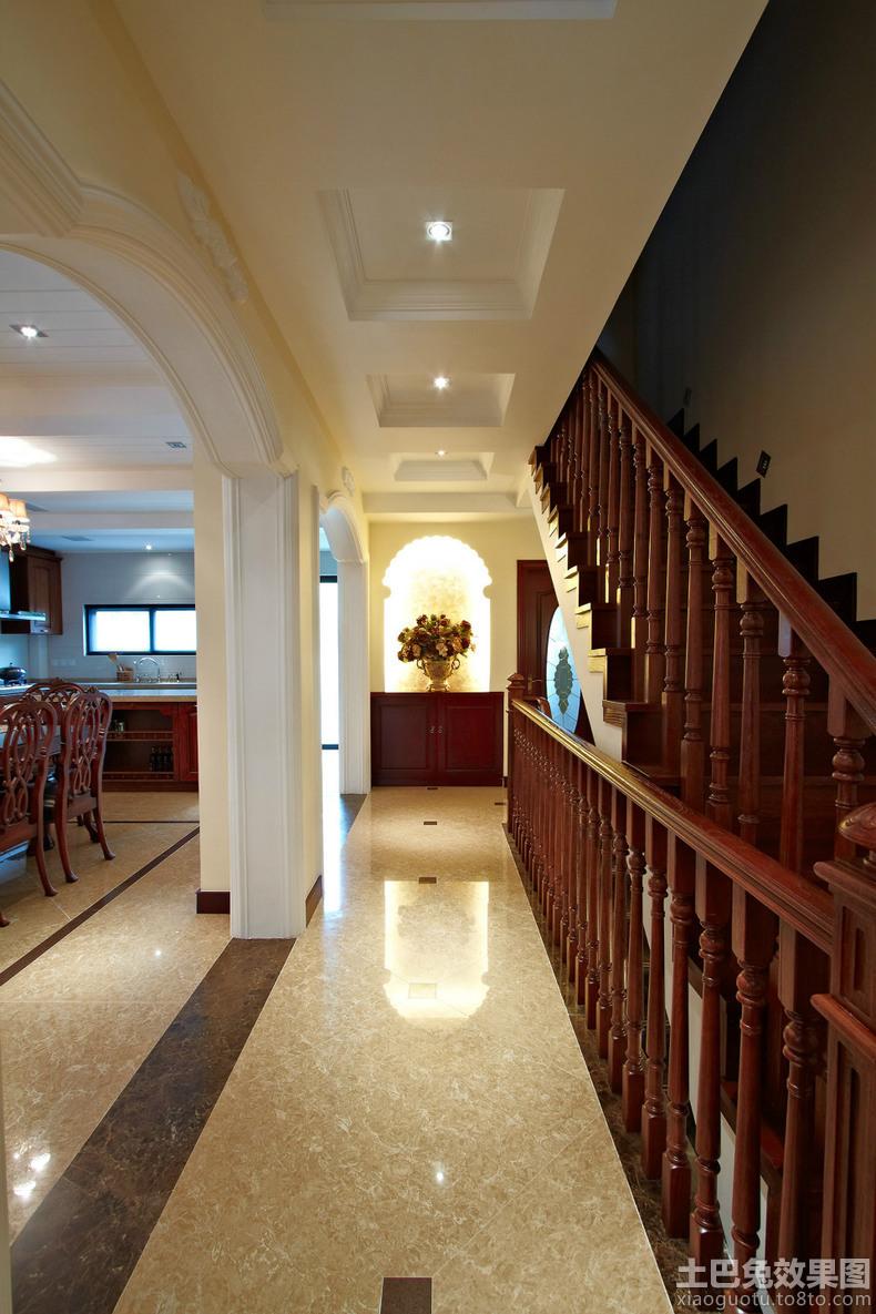 美式别墅过道装修效果图装修效果图