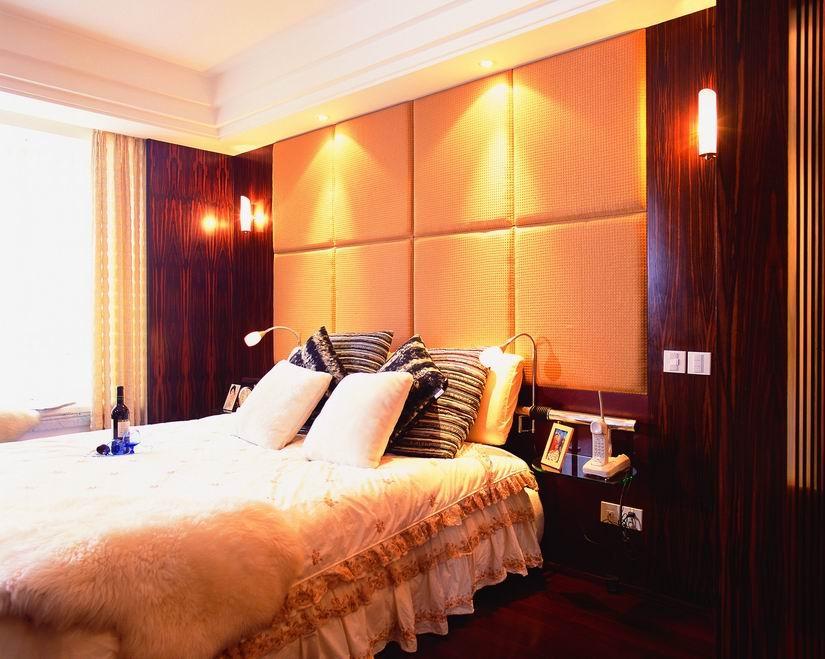 卧室床头硬包背景墙装修效果图欣赏 5 6高清图片