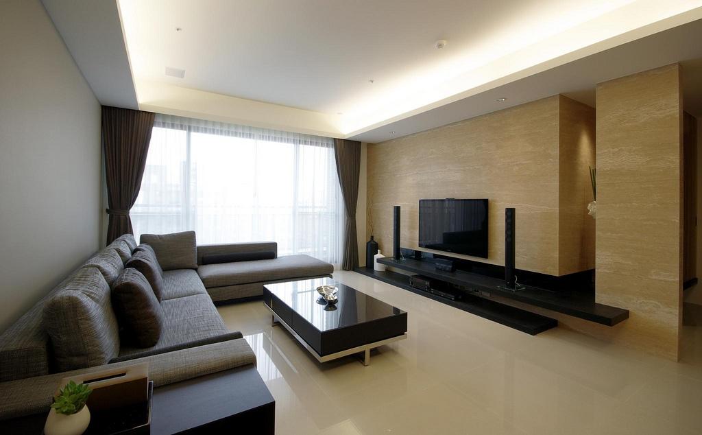 简约80平米小户型装修客厅电视背景墙效果图 (3/3)