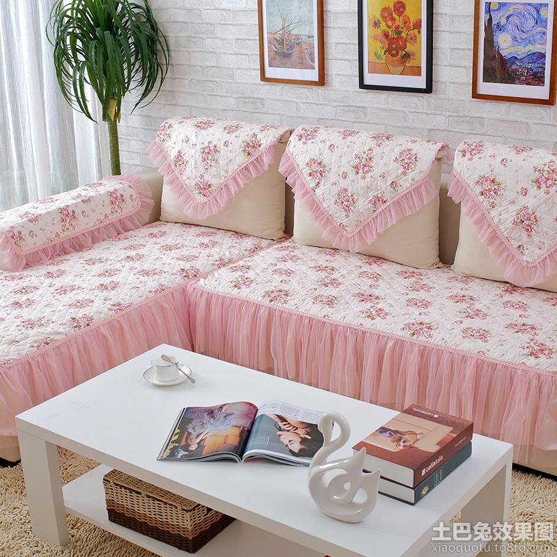 温馨客厅布艺沙发套图片装修效果图