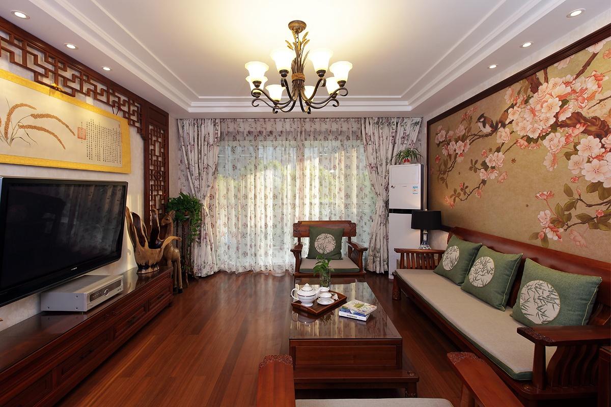 中式客厅吊顶灯效果图装修效果图_第1张 - 家居图库图片