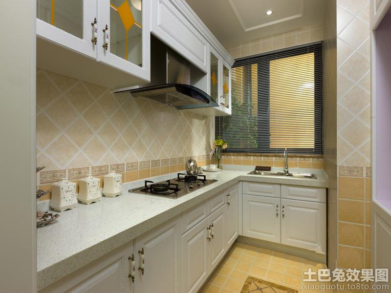 欧式厨房瓷砖颜色搭配效果图装修效果图
