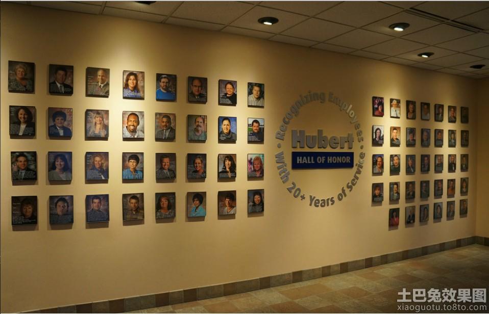 公司员工照片墙设计效果图 土巴兔装修效果图高清图片