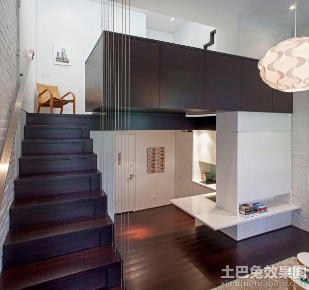 错层小户型室内木地板装修图片装修效果图