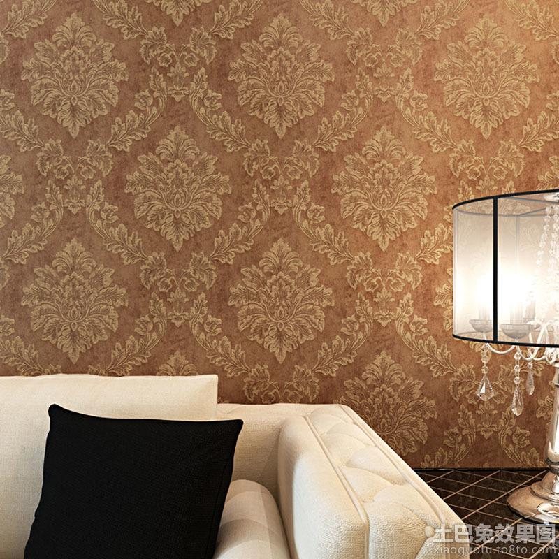 古典欧式花纹壁纸贴图装修效果图