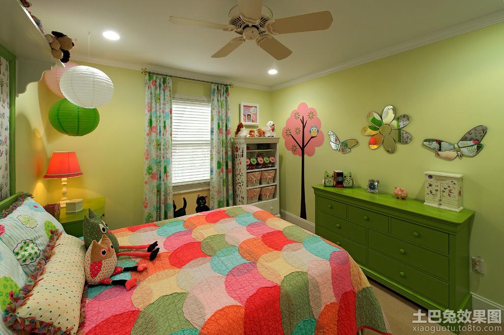 彩色儿童房间墙面布置效果图片装修效果图图片