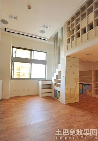 挑高小户型室内木地板贴图装修效果图