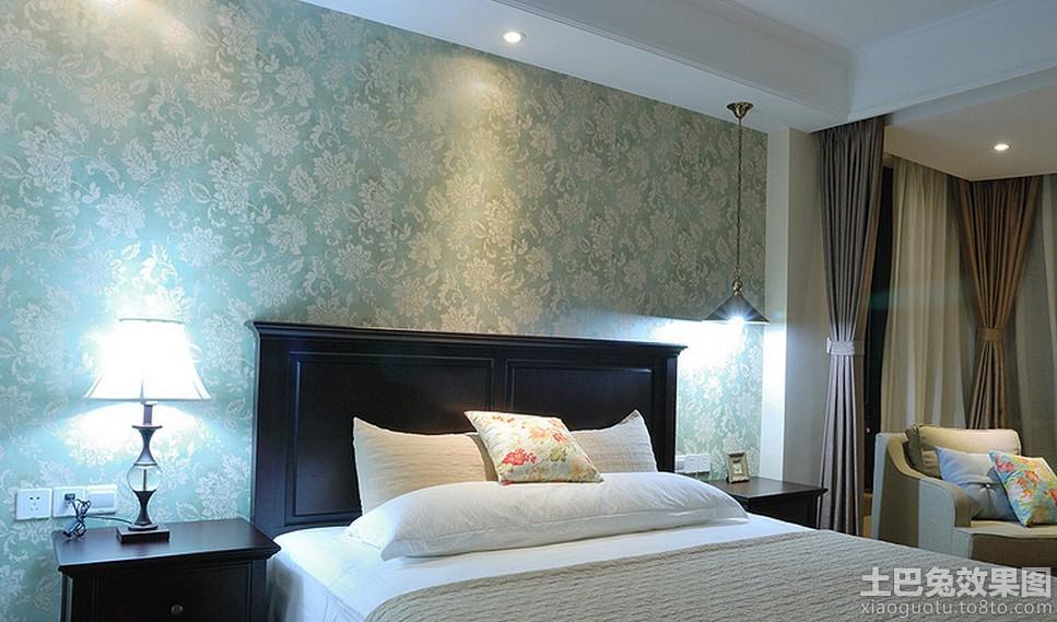 卧室床头欧式壁纸装修效果图片装修效果图
