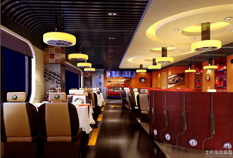 汽车主题餐厅设计效果图装修效果图