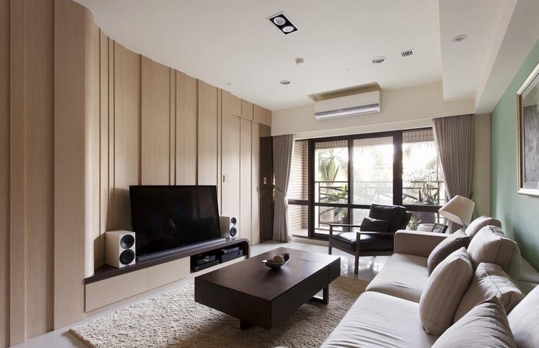 简约装修风格客厅电视背景墙效果图装修效果图 高清图片