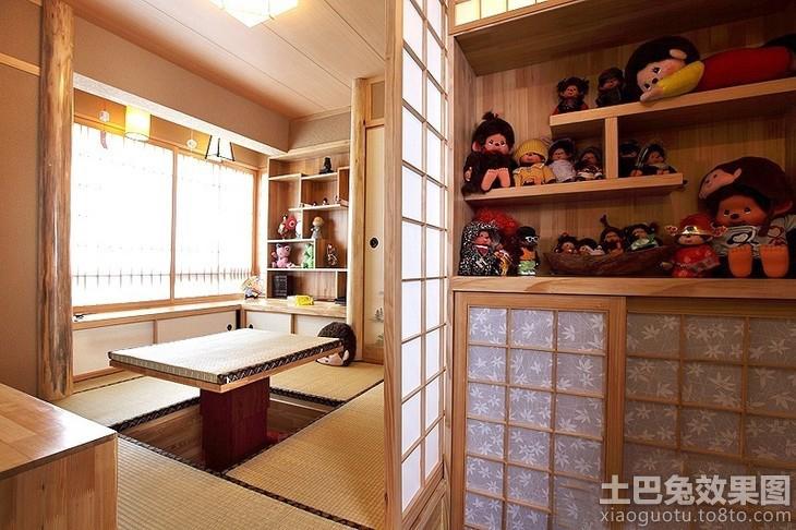日本书房创意桌椅组合设计展板