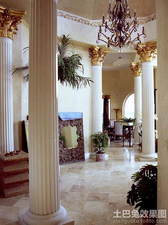 别墅 石膏 罗马柱图片装修 效果 图 第13张 家居高清图片