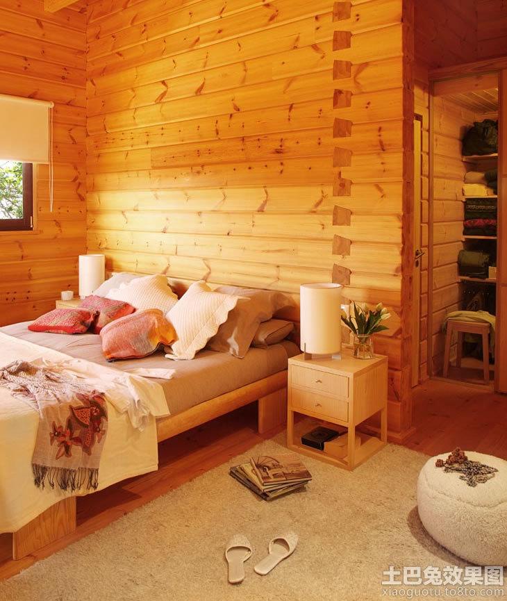 卧室原木色木纹贴图装修效果图_第7张 - 家居图库