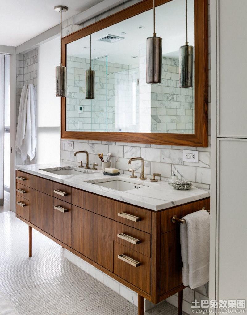 简约美式卫生间洗手台装修效果图 5 9高清图片