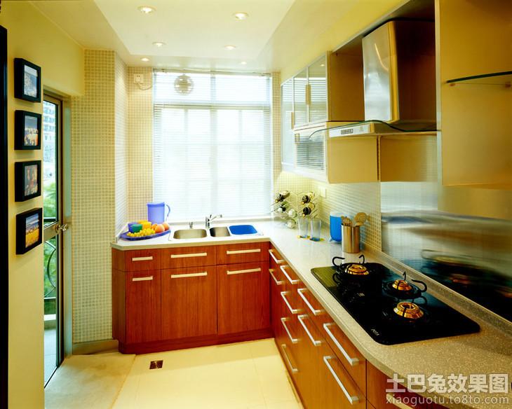小户型厨房l型橱柜效果图装修效果图