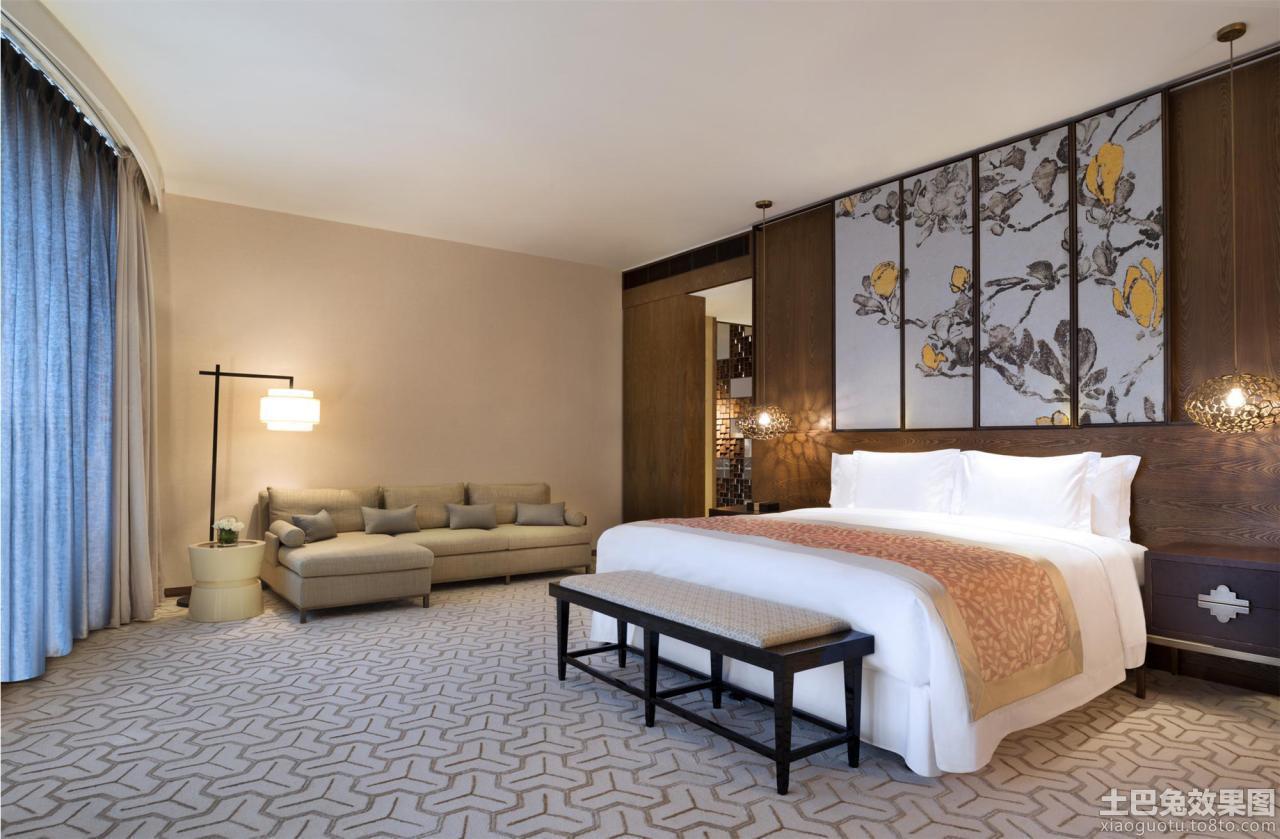 中式酒店客房装修效果图 (4/11)图片