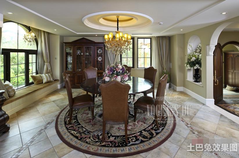 家居图库 欧式风格别墅卧室圆形吊顶效果图 > 第9张  共 14 张图片