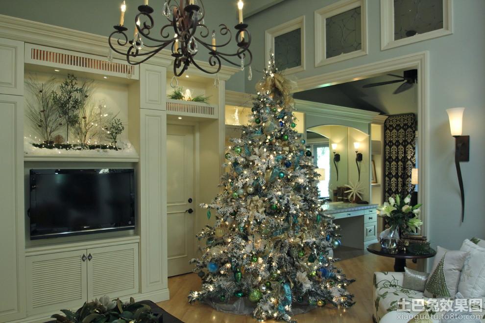 银色圣诞树装饰图片装修效果图
