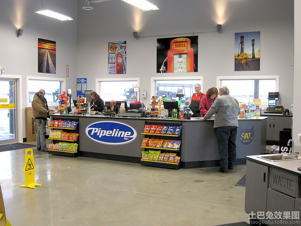 超市店面装修设计图装修效果图