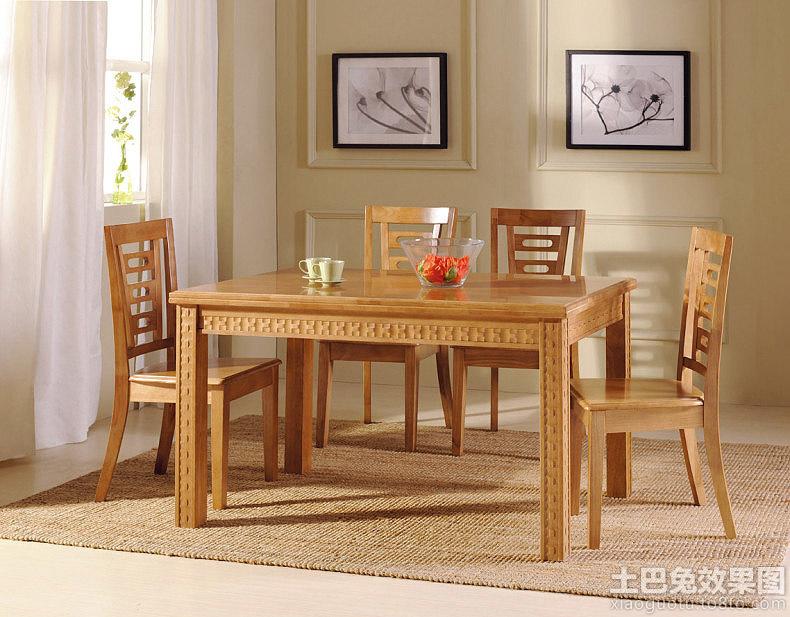 中式实木餐桌图片装修效果图