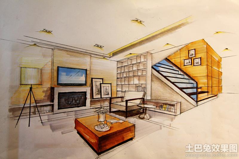 客厅手绘效果图欣赏装修效果图