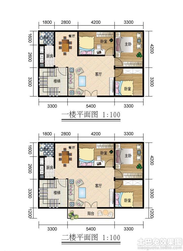 二层农村房屋设计平面图装修效果图