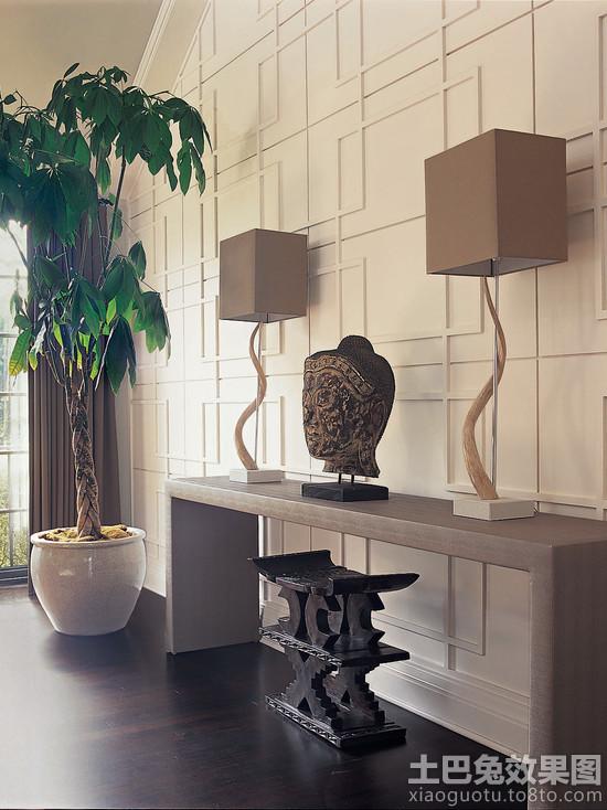 家装室内发财树摆放效果图装修效果图