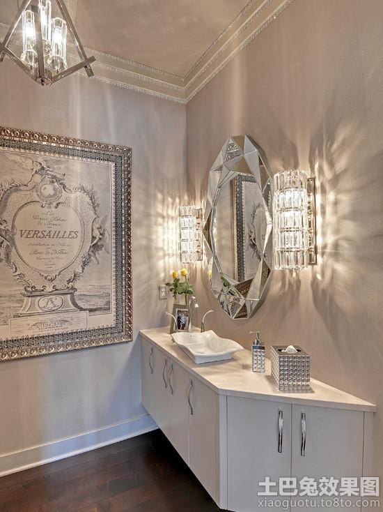 简约浴室柜镜前灯效果图装修效果图