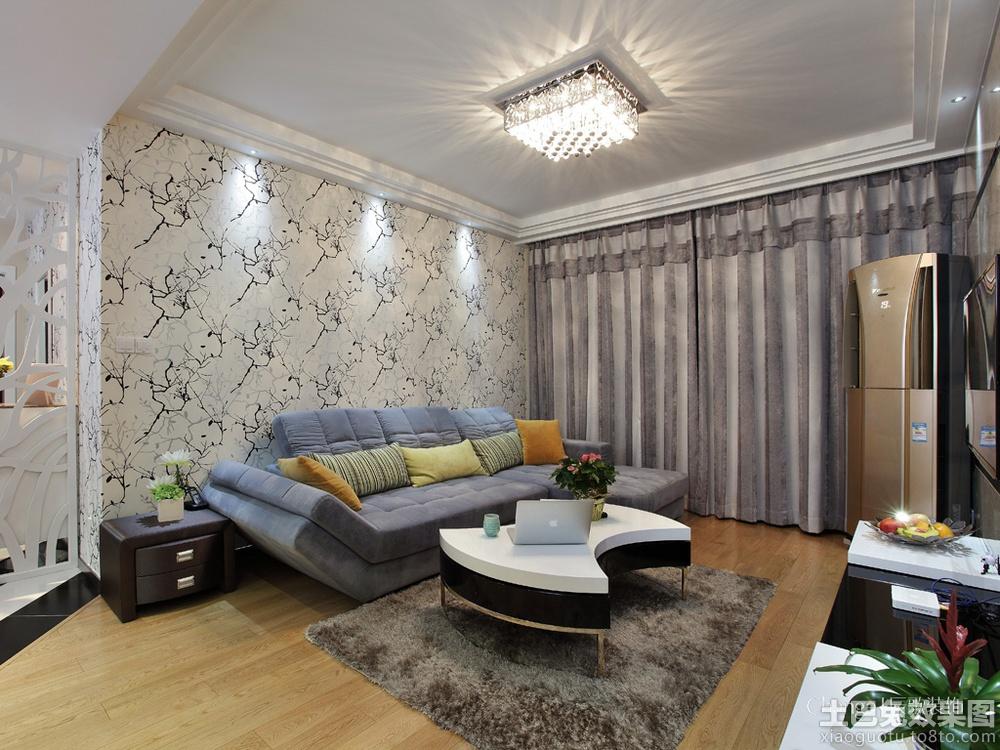 现代风格客厅墙纸效果图欣赏装修效果图_第1张 - 家居