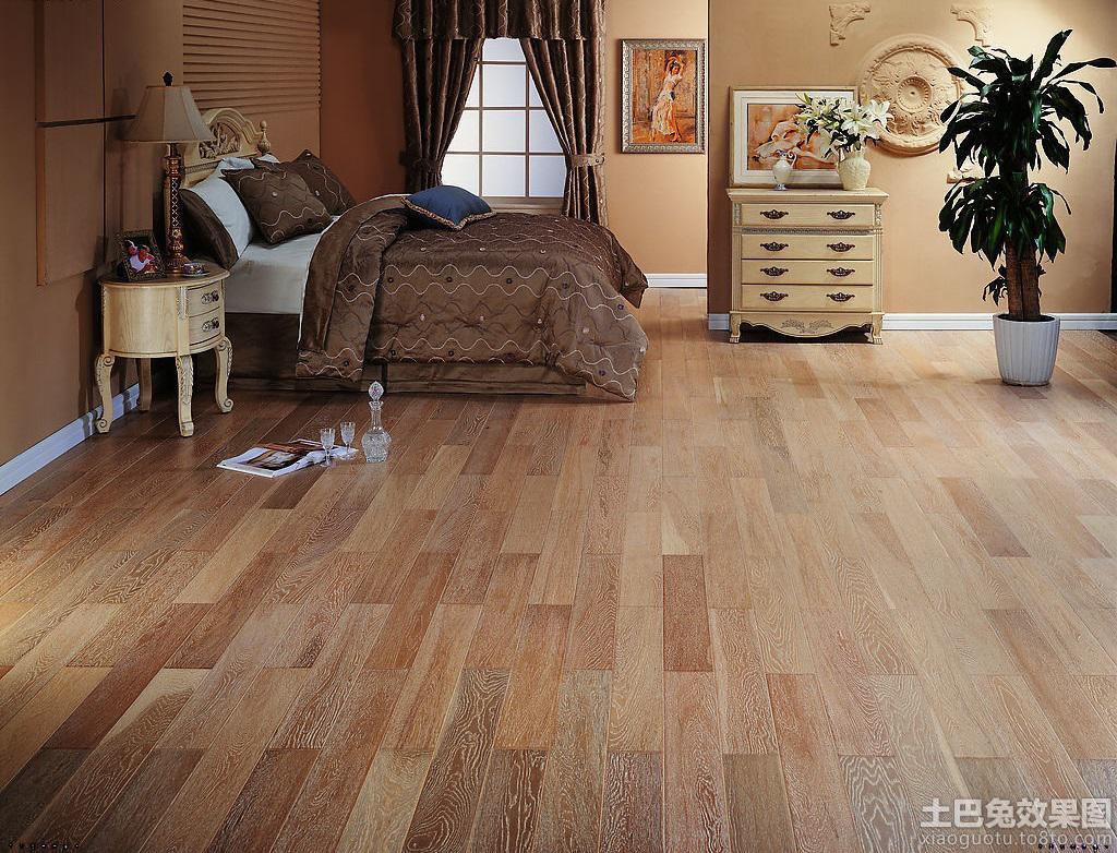 卧室深色木地板贴图装修效果图