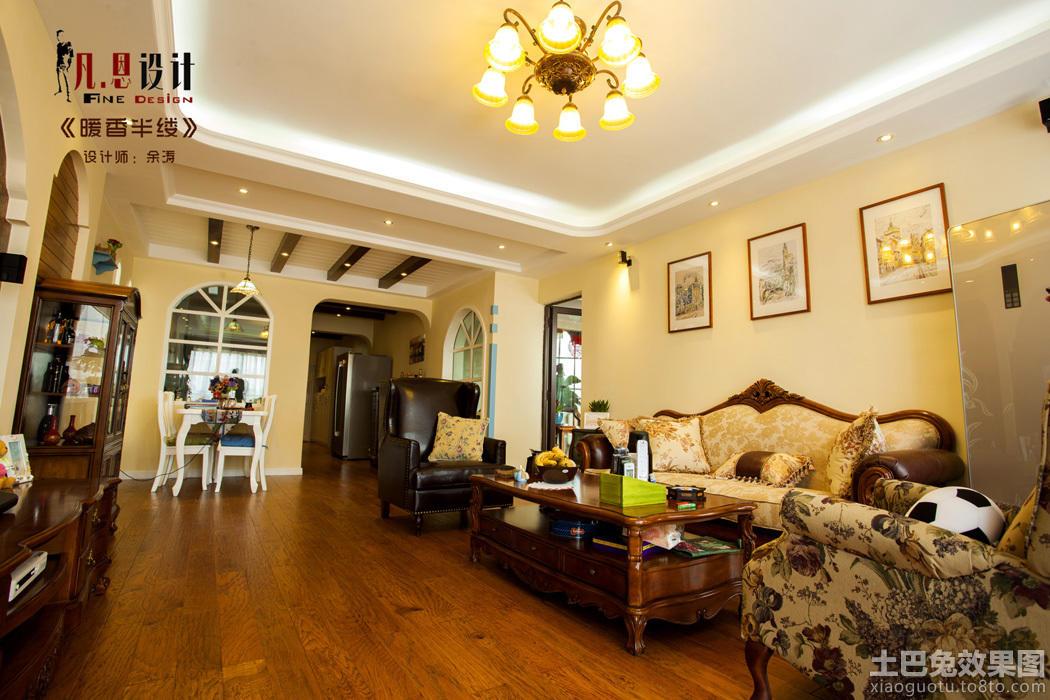 暖色调欧式风格80平米两室一厅装修效果图装修效果图 第6高清图片