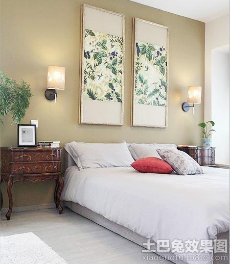 新中式风格卧室床头挂画效果图 (2/4)图片