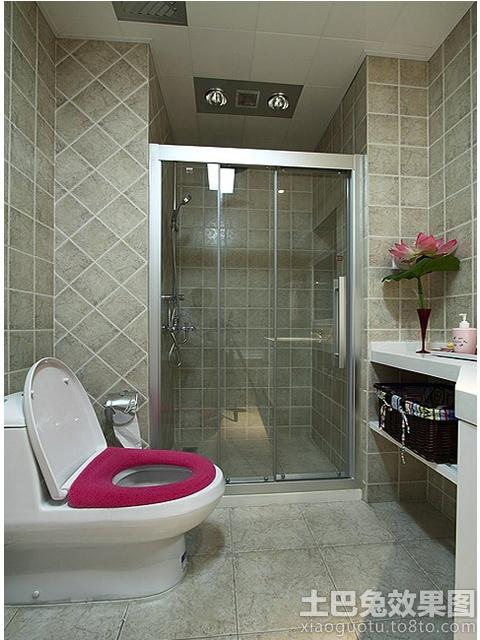 干湿分离卫生间淋浴室隔断设计装修效果图 第1张 家居图高清图片
