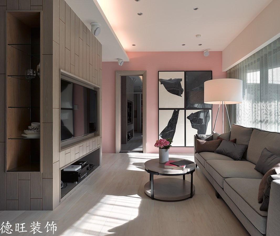 现代风格木质客厅电视背景墙装修效果图 (4/5)