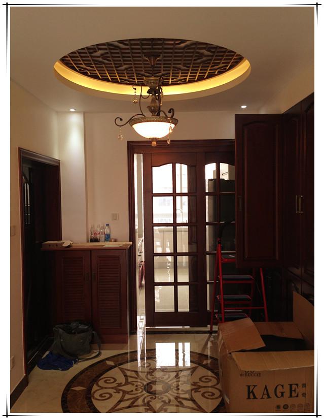 中式风格客厅拼花地板效果图 (3/10)图片