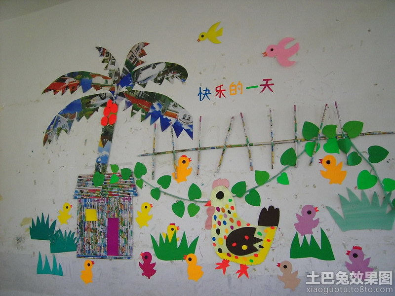 幼儿园主题墙饰设计图片装修效果图
