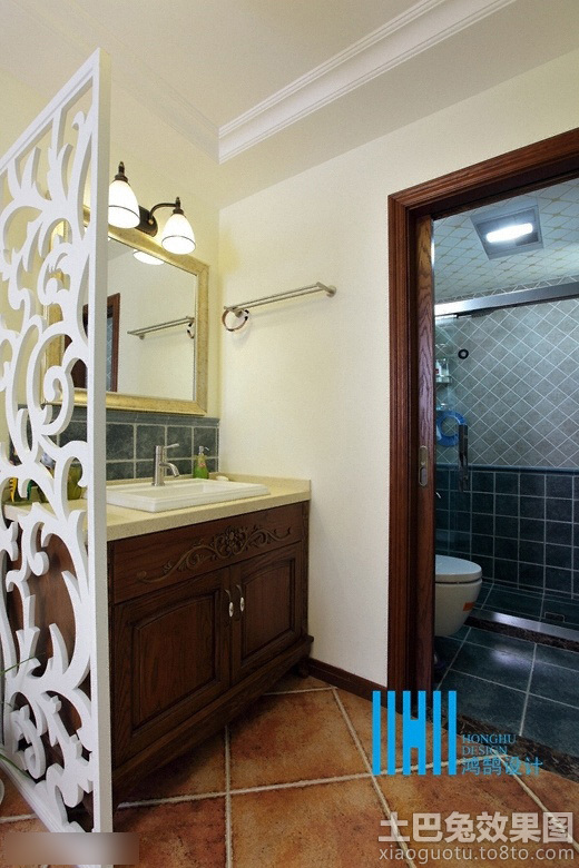 美式卫生间干区装修效果图 7 9高清图片