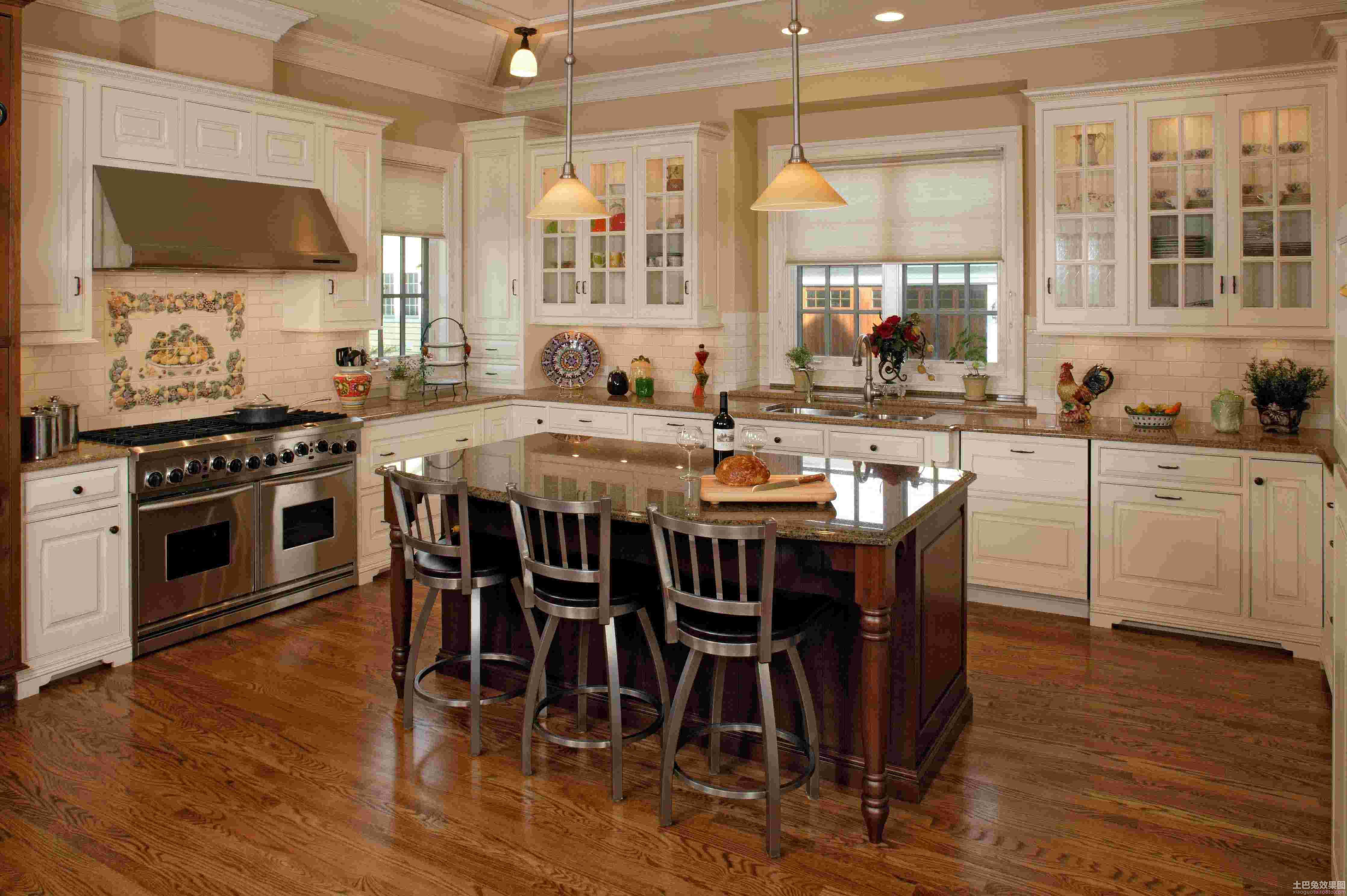 开放式整体厨房装修效果图片欣赏 (3/9)图片