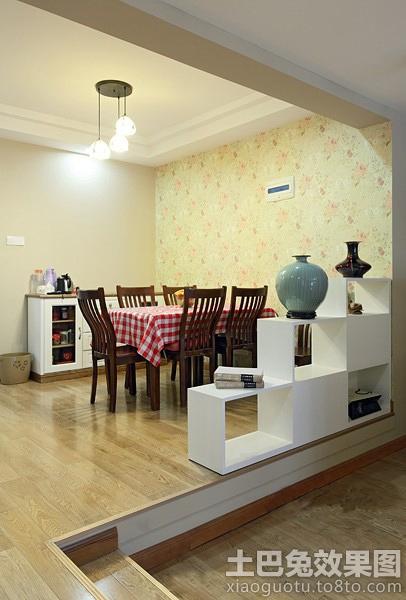 家庭餐厅屏风柜隔断效果图装修效果图 第1张 家居图库 九正家居网高清图片