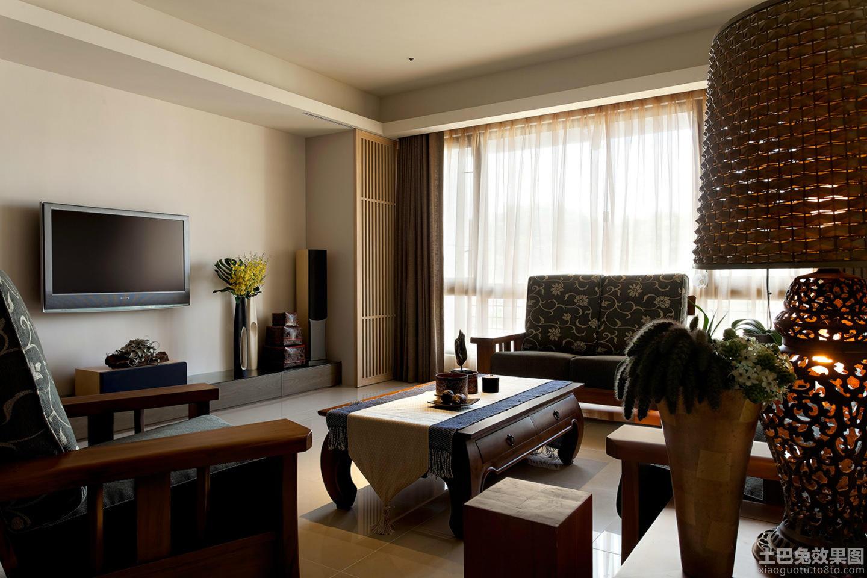 简中式客厅家具摆放效果图装修效果图图片