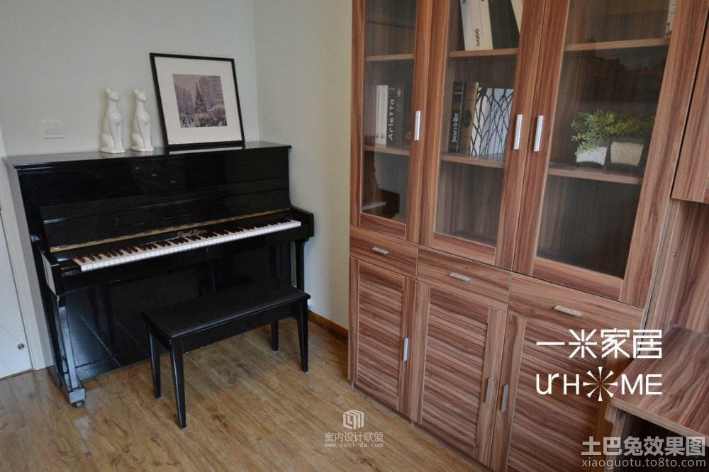 书房钢琴区装修效果图装修效果图