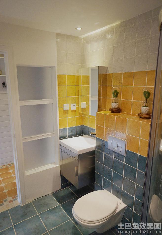 卫生间瓷砖颜色搭配效果图欣赏装修效果图