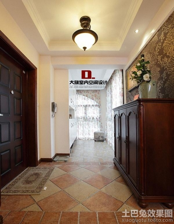 美式门厅地板砖效果图 4 7高清图片