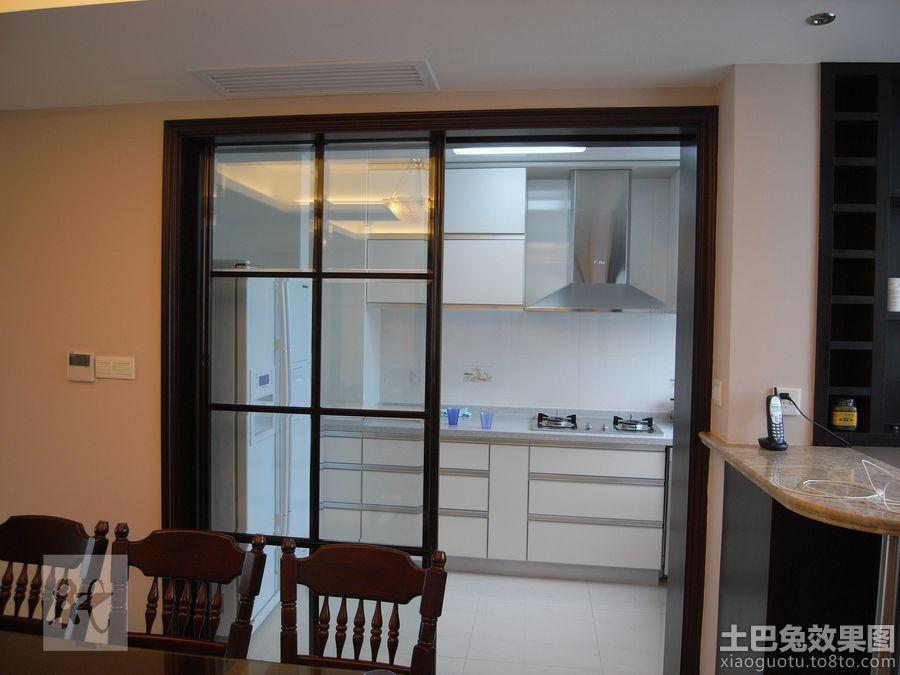 家庭厨房隔断门效果图 8 9高清图片