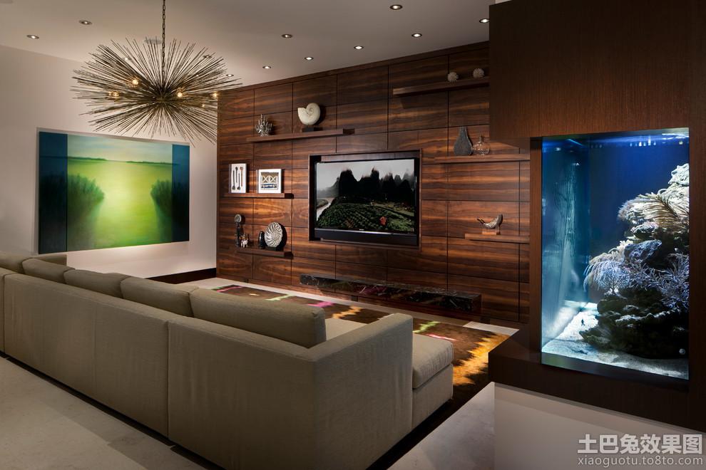 客厅家庭影院设计装修效果图
