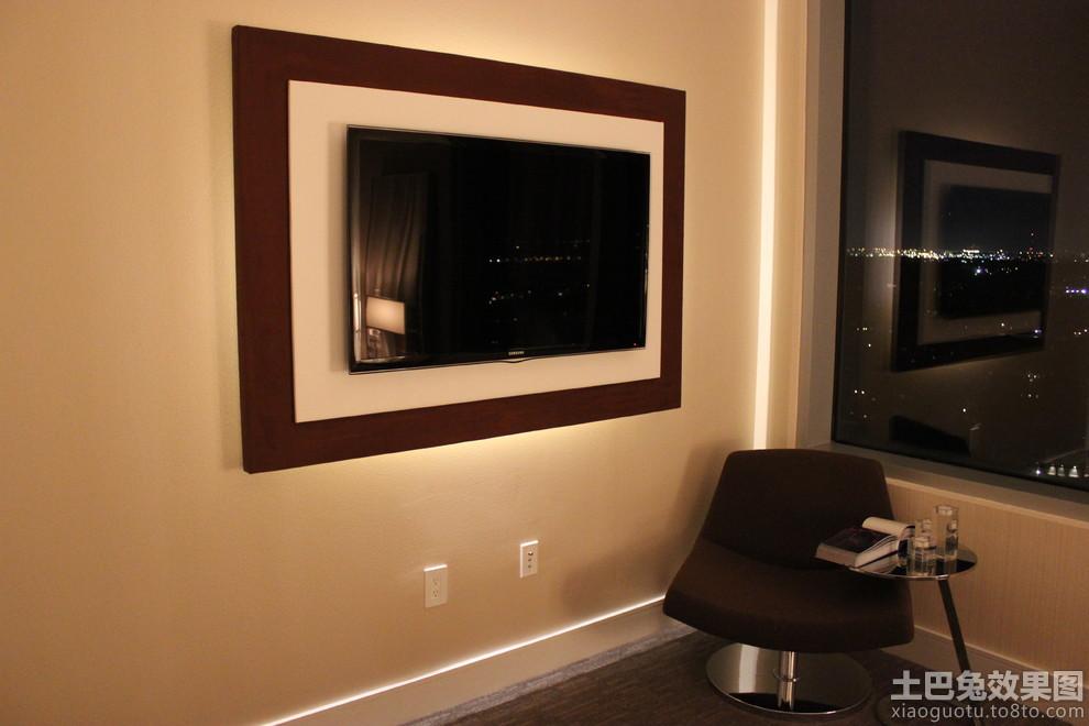 简单电视墙造型图片装修效果图