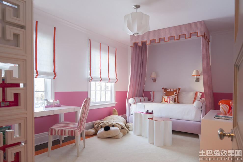 简约女生儿童房间设计图装修效果图